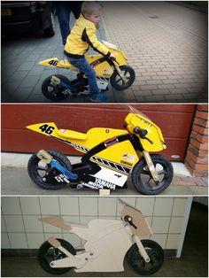 motorcycle themed balance bike