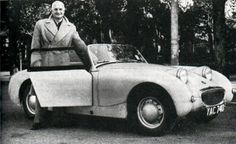 Donald Healey with a sprite, October 3 1958