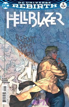 The Hellblazer # 5 Variant Cover Dc Comics, Free Comics, Comic Art, Comic Books, Dc Rebirth, Detective Comics, Comic Covers, Geek Stuff, Batman