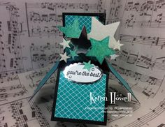 Easy folding box card - Stampin' Up! Crafting with Keren from Tuppence Coloured Easel Cards, 3d Cards, Stampin Up Cards, Fancy Fold Cards, Folded Cards, Pop Up Box Cards, Card Boxes, Exploding Boxes, Explosion Box