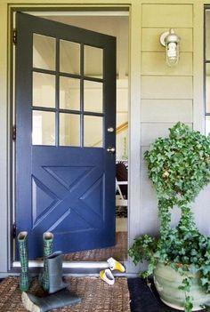 side door to kitchen, black or deep plum