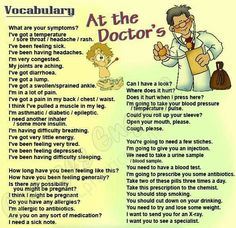 English vocabulary - at the doctor's