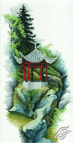 Oriental Pavilion - Cross Stitch Kits by RTO - R164
