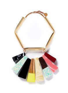 STELLA MCCARTNEY - Mixed stone brass necklace   Multi-colour Necklace Fashion Jewellery   Womenswear   Lane Crawford - Shop Designer Brands Online US$1,275