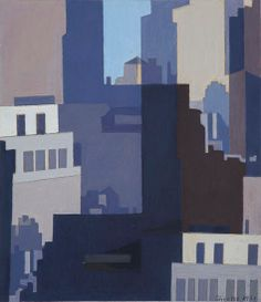 Charles Sheeler - Canyons-II (1951)