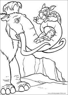 22 Best Coloring Pages (Ice Age) images   Coloring pages, Colouring ...