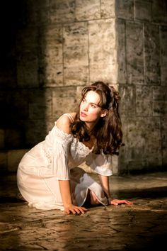 Lily James in stage production of Romeo and Juliet