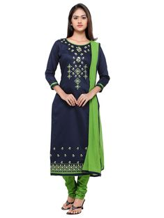 4a8e7233f292 27 Best Designer embroidered cotton patiala dress material @ amazon ...