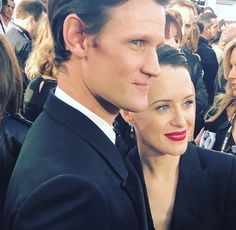 Matt Smith and Claire Foy at the Golden Globes! ❤️
