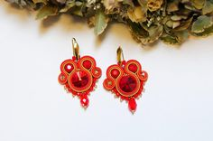Beautiful Bulgarian beadwork added a new photo — with Kamelia Manova. Soutache Earrings, Gold Earrings, Christmas Night, Christmas Gifts, Christmas Earrings, Acrylic Beads, Embroidery Techniques, Belly Button Rings, Glass Beads