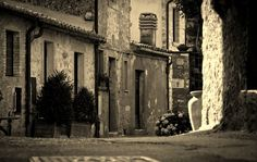 Tiny street of a Medieval Village in Maremma, Semproniano, just 5 miles from Saturnia natural spa