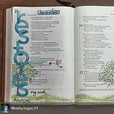 Bible Journaling Bible Journaling For Beginners, Bible Study Journal, Scripture Study, Bible Art, Scripture Journal, Art Journaling, Book Art, Bible Drawing, Bible Doodling