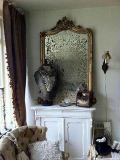 Beautiful aged mirror