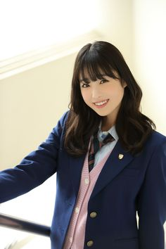 PICK UP ACTRESS 髙橋ひかる | HUSTLE PRESS OFFICIAL WEB SITE Japanese School Uniform, Women Ties, School Looks, Japanese Kimono, Image Collection, Pretty Face, Actresses, Blazer, My Style