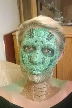 <b>The mother of three claims to have taught herself to face-paint at home.</b>
