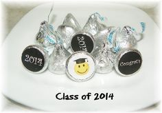 Graduation 2014 Printable Hershey Kiss labels  DIY by NCPrintables, $5.00