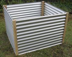 Corrugated raised garden bed. I like it!