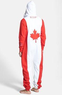 Canada Flag Zip Hoodie Jumpsuit at Nordstrom.com.