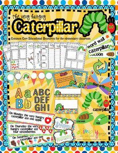 Celebrate Spring with the Very Hungry Caterpillar common core activities for the classroom from simply sprout common core activities, the hungry caterpillar, teacher notebook, notebooks, celebr spring, sprout, mini books, eric carl, hungri caterpillar