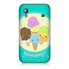 Amazon.com: Ecell - HEADCASE DESIGNS KAWAII ICE CREAM BACK CASE COVER FOR SAMSUNG S5830 GALAXY ACE: Cell Phones & Accessories