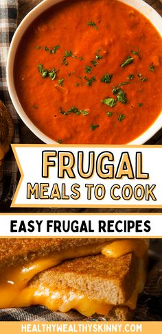 Most of us are looking for ways to save money any way we can. We need food to live and it can sometimes be a huge expense. This is a list of frugal meals you can make to save money on your grocery bill. You can eat and feed your family good healthy meals and save money at the same time. Good Healthy Recipes, Healthy Meals, Frugal Meals, No Cook Meals, Food To Make, Saving Money, Live, Eat, Cooking