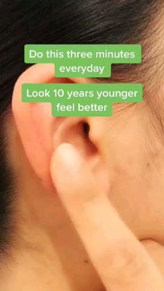 Ear Massage, Massage Facial, Facial Yoga, Reflexology Massage, Massage Tips, Massage Techniques, Massage Therapy, Beauty Tips For Glowing Skin, Health And Beauty Tips