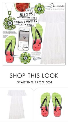 """""""No 430:Totwoo Jewery & Totwoo App"""" by lovepastel ❤ liked on Polyvore featuring Anjuna, Round Towel Co., Kate Spade, totwoo, totwooglobal and smarttech"""