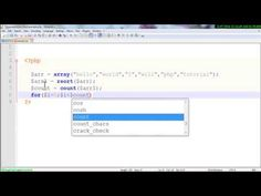 Php & MySql tutorial : Php count function using array with rsort () func...