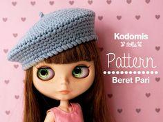 Patrón PDF Boina Pari para Blythe DIY por Kodomis en Etsy