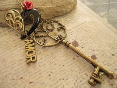 Only you is the key a charm necklace by trinketsforkeeps on Etsy, $9.99