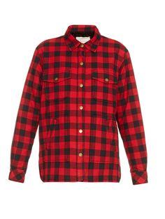 Workman plaid-cotton jacket by Current/Elliott | Shop now at #MATCHESFASHION.COM