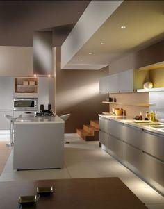 Modern Interior Design adds to Luxury of Your Dream House Kitchen Cabinet Design, Interior Design Kitchen, Modern Interior Design, Kitchen Dinning, Kitchen Decor, Luxury Homes Dream Houses, Minimalist Kitchen, Kitchen Furniture, Home Kitchens