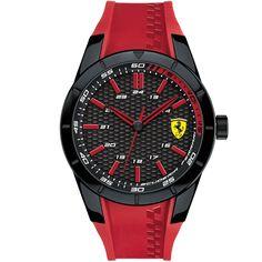 Relógio Scuderia Ferrari Masculino Borracha Vermelha - 830299