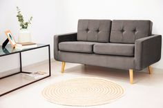Canapea Fixa 2 locuri Ina Trend Grey #homedecor #interiordesign #inspiration #sofa #livingroom Love Seat, Couch, Table, Furniture, Home Decor, Settee, Decoration Home, Sofa, Room Decor