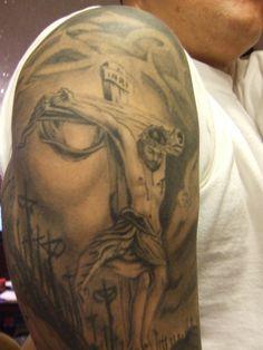 jesus tattoos  | Jesus Inside Of Face Tattoo Design Picture - Free Download Tattoo ...