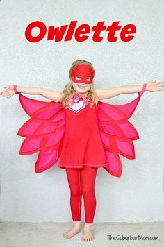 Masks Birthday Party Ideas And Free Printables - The Suburban Mom DIY Owlette CostumeDIY Owlette Costume Pj Masks Kostüm, Pj Masks Owlette Costume, Festa Pj Masks, Owelette Costume, Diy Costumes, Scary Costumes, Creative Costumes, Family Halloween Costumes, Halloween Kids