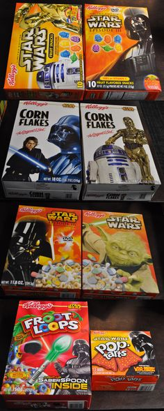 1970-Now 19079: Star Wars Cereal Lot Of 8 Froot Loops Corn Flakes Pop Tarts Fruit Snacks And More -> BUY IT NOW ONLY: $39.95 on eBay!