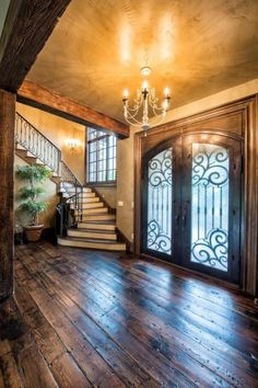 French Country Elegance Bill.... I love this look.... and love the staircase if we put one in the foyer                                                                                                                                                     More