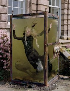 Far, Far From Land : Kristen McMenamy by Tim Walker | Haute macabre | dark fashion | high fashion editorial | obscure | surreal | mermaid