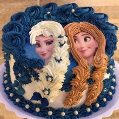 Bolo Frozen, Frozen Cake, Elsa Birthday Cake, Baby Birthday, Beautiful Cakes, Amazing Cakes, Cakes And More, Cake Art, No Bake Cake