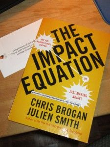 This Book is Making an Impact: The Impact Equation  http://www.mypromotion.ca/2012/10/this-book-is-making-an-impact/