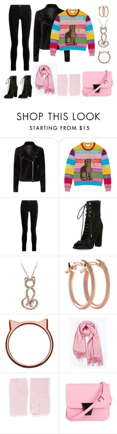 Black And pink Casual Look by siriusfunbysheila1954 on Polyvore featuring Gucci, Paige Denim, J Brand, Kendall + Kylie and Pori