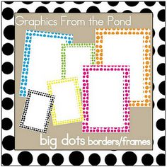 Happy POLKA DOT borders!!!  (from Classroom FREEBIES!)