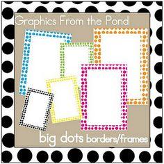 Oh wowzers!!! Love this!! Free polka dot frames, yay!!!