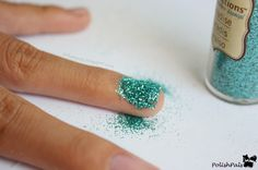 Learn how to apply the random loose glitter laying around your house onto your nails to make gorgeous loose glitter nails. :D