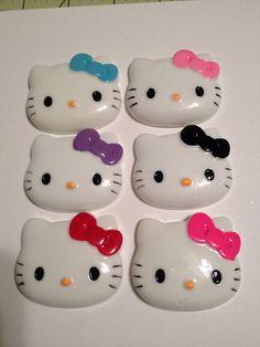 Kawaii Hello Kitty Cabochon (Lot of 6) on Etsy, $10.00