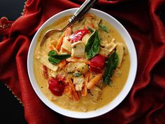 This delicious Instant Pot Thai Red Curry with Chicken makes a perfect meal when paired with Jasmine Rice, and is perfect for a busy weeknight meal.
