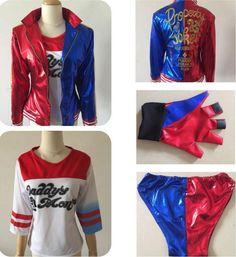 Harley Quinn Suicide Squad Jacket Costume Cosplay Movie Halloween Batman Joker #Unbranded #JacketsCoatsCloaks #Party