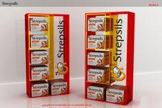 STREPSILS display stand by damla temiz at Coroflot.com