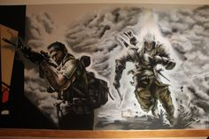 call+of+duty+bedroom+decor   Here is the call of duty part of a bedroom mural